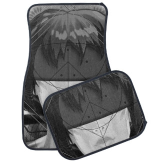 Beautiful BnW Fractal Feathers for Major Motoko Car Mat