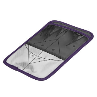 Beautiful BnW Fractal Feathers for Major Motoko iPad Mini Sleeve