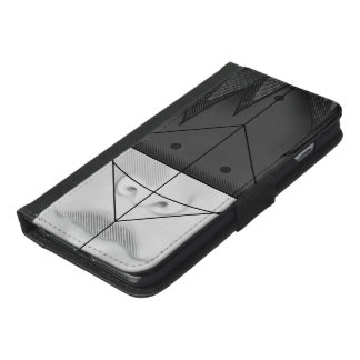 Beautiful BnW Fractal Feathers for Major Motoko iPhone 6/6s Plus Wallet Case