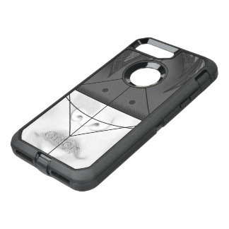 Beautiful BnW Fractal Feathers for Major Motoko OtterBox Defender iPhone 8 Plus/7 Plus Case