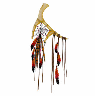 Beautiful Boho Bohemian Deer Antler Dream Catcher Photo Sculpture Decoration