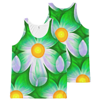 Beautiful Bold Daisies All-Over Print Singlet