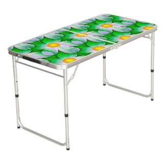 Beautiful Bold Daisies Beer Pong Table