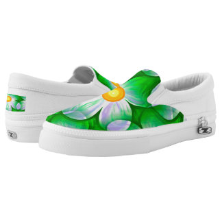 Beautiful Bold Daisies Slip On Shoes