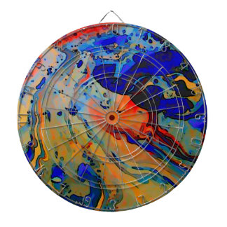 """beautiful bold marbling image"" dartboard"