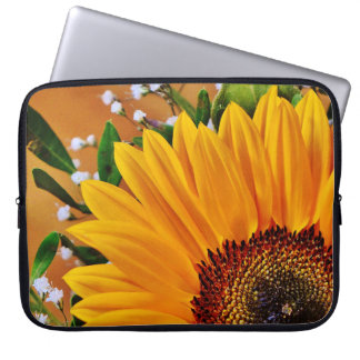 Beautiful Bold Yellow Sunflower Floral Computer Sleeve