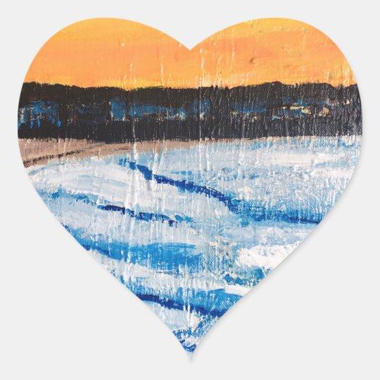 Beautiful Bondi Heart Sticker