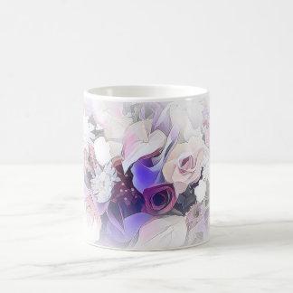 Beautiful Bouquet of Flowers on White Coffee Mug