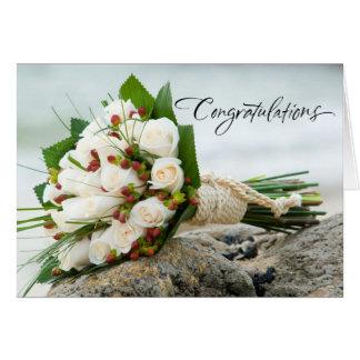 Beautiful Bouquet Wedding Card