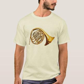Beautiful Brass French Horn Musical Instrument T-Shirt