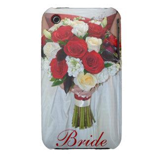 Beautiful bridal bouquet print iphone 3G case