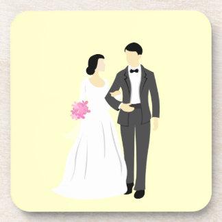 Beautiful Bride & Groom Wedding Coaster