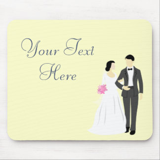 Beautiful Bride & Groom Wedding Mouse Pad
