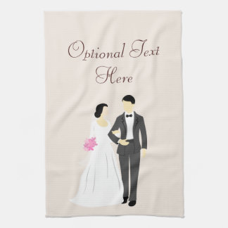 Beautiful Bride & Groom Wedding Tea Towel