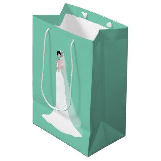Beautiful Bride in Bridal Gown Medium Gift Bag