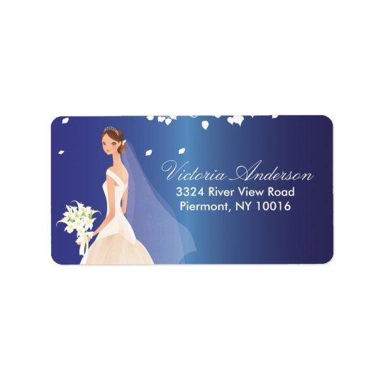 Beautiful Bride Return Address Labels. Address Label
