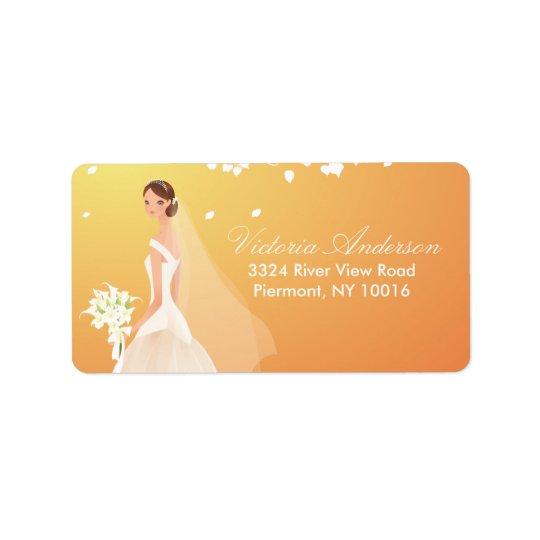 Beautiful Bride Return Address Labels. Address Label
