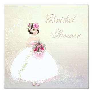 Beautiful Bride Romantic Hearts Bridal Shower 13 Cm X 13 Cm Square Invitation Card