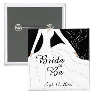 Beautiful Bride to Be 15 Cm Square Badge