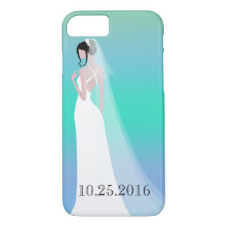 Beautiful Bride Wedding Day iPhone 7 Case
