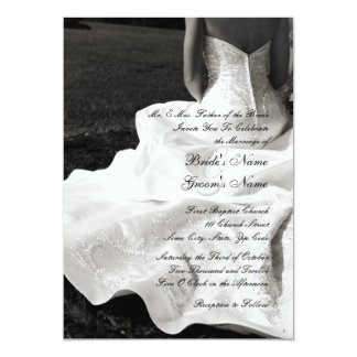 "Beautiful Bride Wedding Invitation 5"" X 7"" Invitation Card"