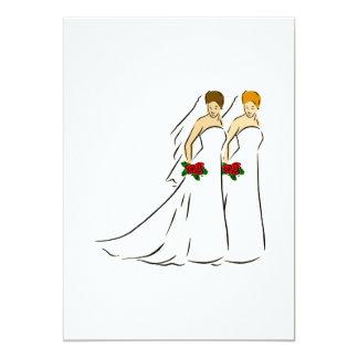 Beautiful Brides 13 Cm X 18 Cm Invitation Card