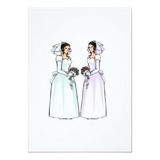 Beautiful Brides in Love 5x7 Paper Invitation Card