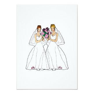 "Beautiful Brides 5"" X 7"" Invitation Card"