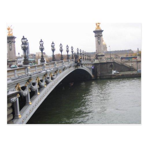 Beautiful Bridge in Paris, France Post Cards