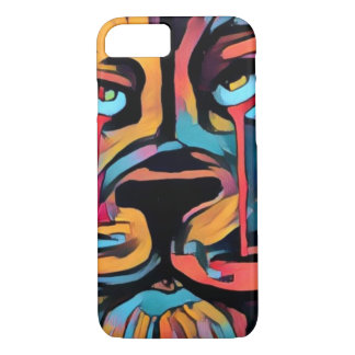 Beautiful bright bold lion face iPhone 7 case