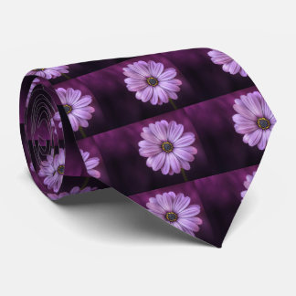 Beautiful, bright, elegant, pink-purple daisy tie