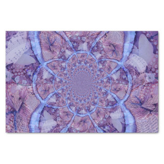Beautiful bright, psychedelic purple kaleidoscope tissue paper