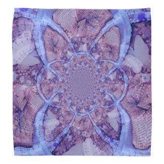 Beautiful bright, purple kaleidoscope bandana