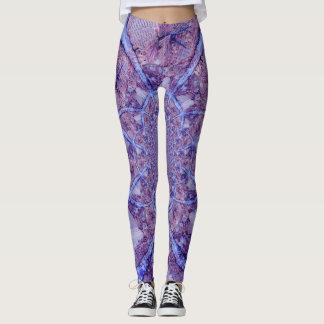 Beautiful bright purple kaleidoscope leggings