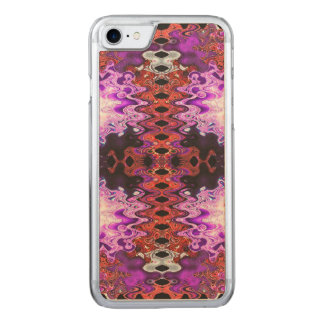 Beautiful Bright Purple Red Abstract Carved iPhone 7 Case