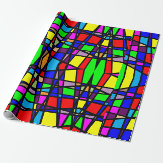 Beautiful Bright Stained Glass Gift Wrap