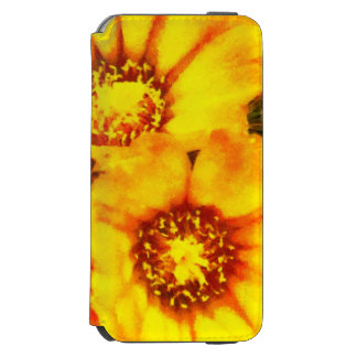 Beautiful bright yellow flowers incipio watson™ iPhone 6 wallet case