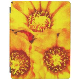 Beautiful bright yellow flowers iPad cover