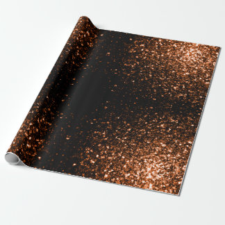 Beautiful Bronze glitters sparkles v3 Wrapping Paper