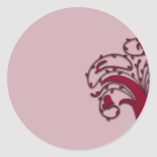 Beautiful brown floral on pink texture sticker