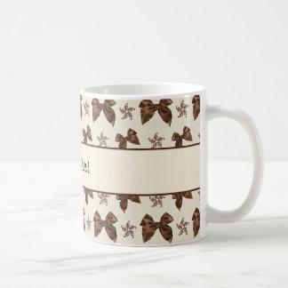 Beautiful Brown Satin  Bows Coffee Mug