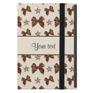 Beautiful Brown Satin  Bows iPad Mini Cover