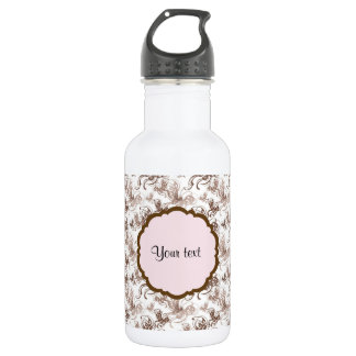 Beautiful Brown Swirly Butterflies 532 Ml Water Bottle