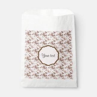 Beautiful Brown Swirly Butterflies Favour Bag