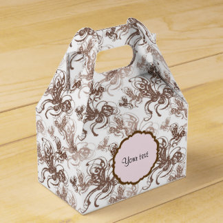 Beautiful Brown Swirly Butterflies Favour Box