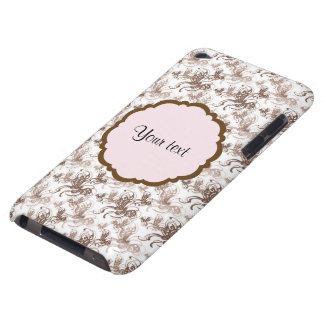 Beautiful Brown Swirly Butterflies iPod Touch Case