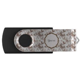 Beautiful Brown Swirly Butterflies USB Flash Drive