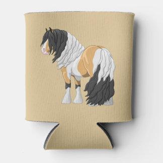 Beautiful Buckskin Pinto Gypsy Vanner Draft Horse Can Cooler