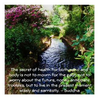 Beautiful Buddhist Quote about health and wellness Poster