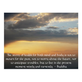 Beautiful Buddhist Quote with inspirational photo Post Cards